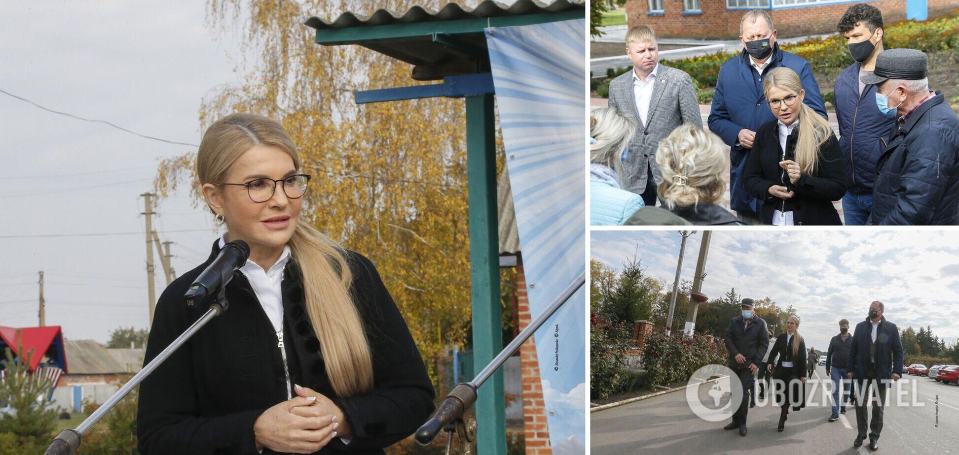 Тимошенко провела брифинг в Тростянце по итогам встреч с мэрами нескольких городов Сумщины