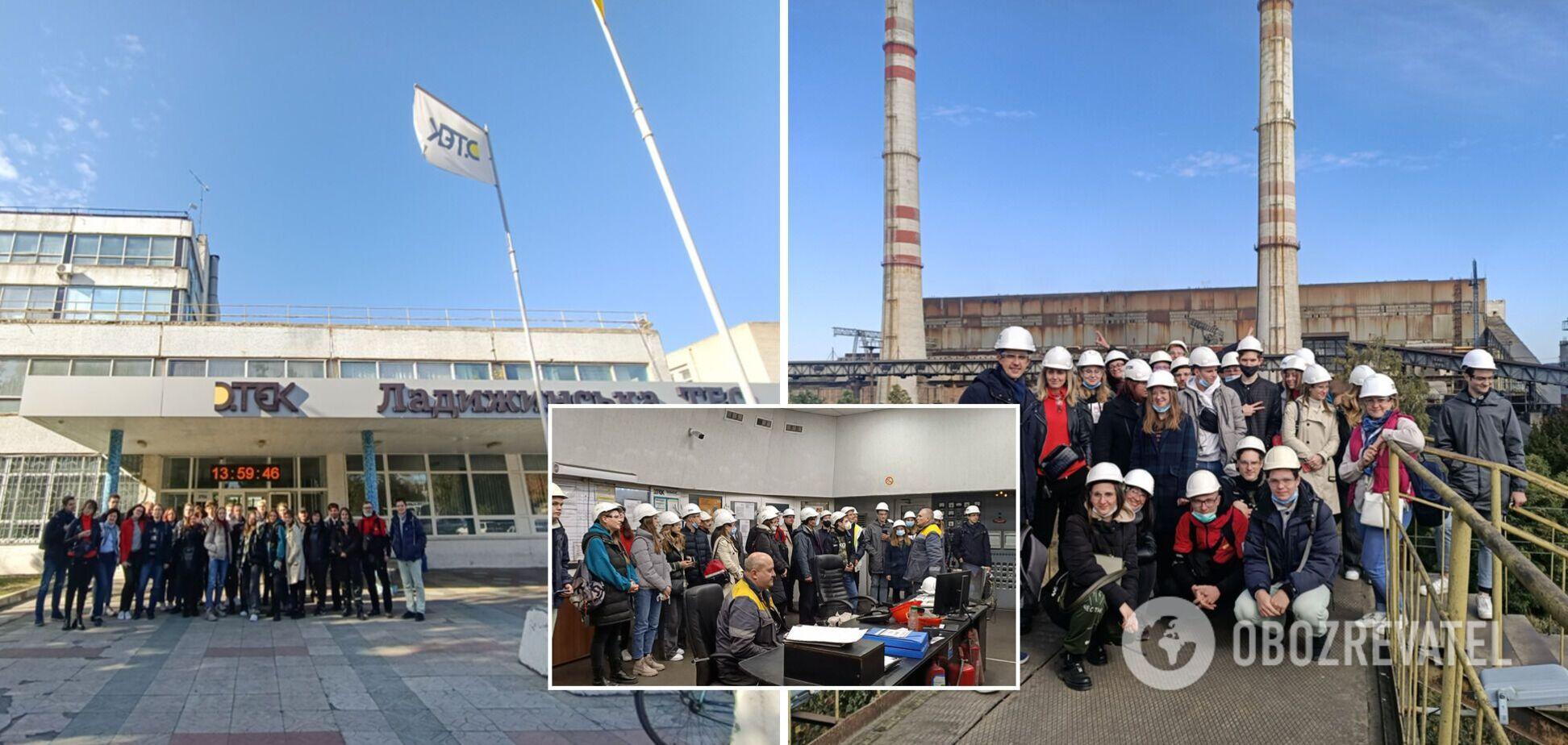 ДТЕК організував першу екопромислову екскурсію для студентів на Ладижинську ТЕС