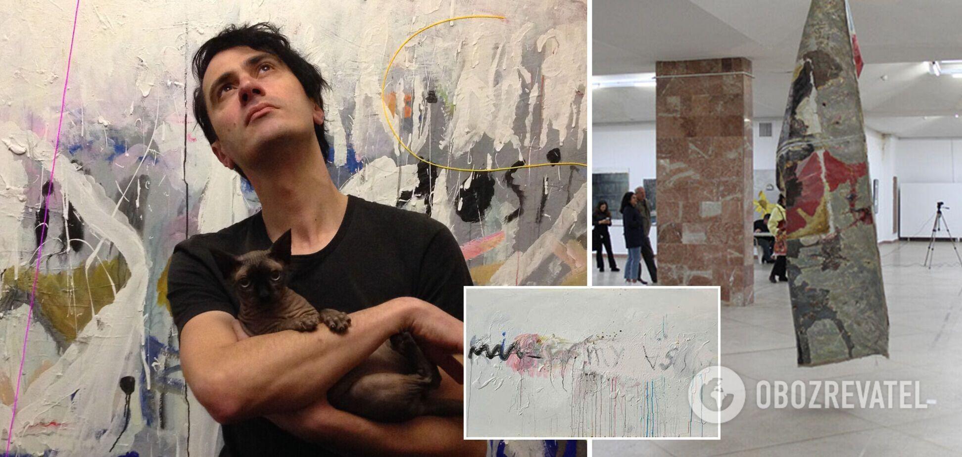 З виставки у Львові вилучили картини з написами 18+: автор звинуватив організаторів у цензурі. Фото