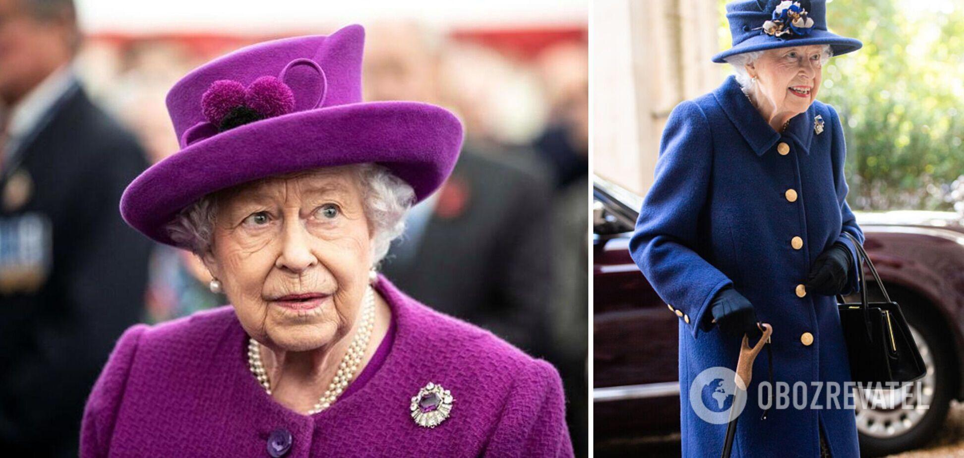Єлизавета II вперше з'явилася на публіці з тростиною: що сталося. Фото