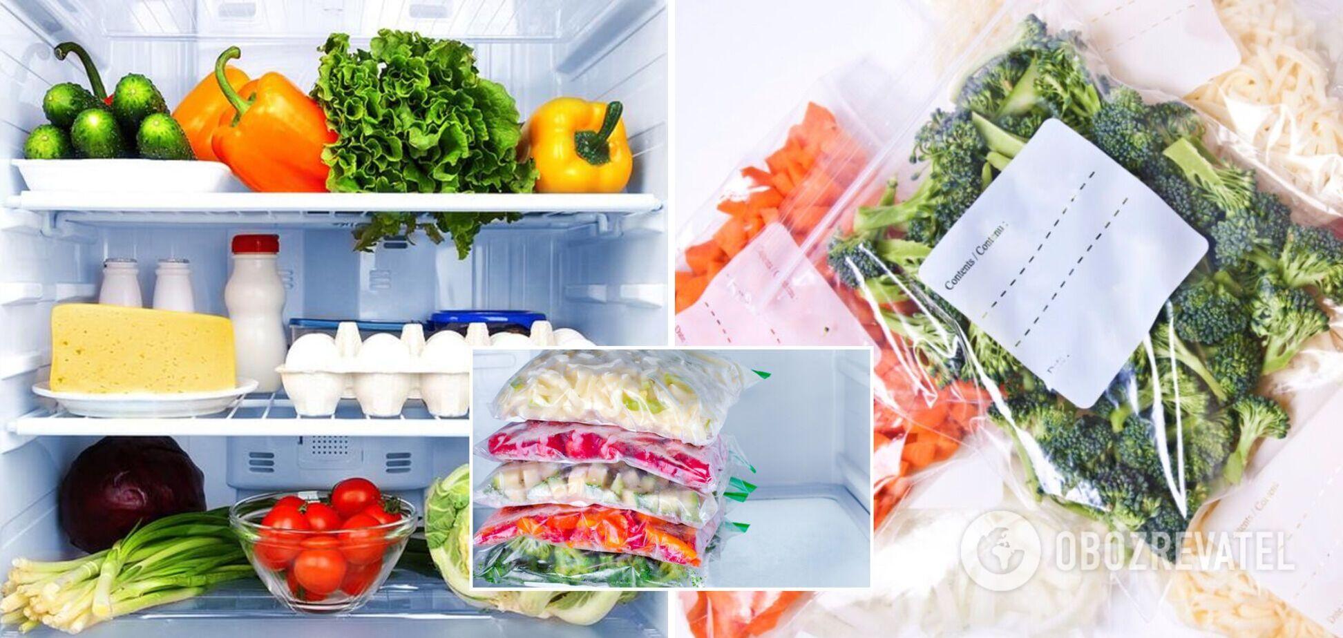 Як правильно зберігати продукти в холодильнику і заморожувати
