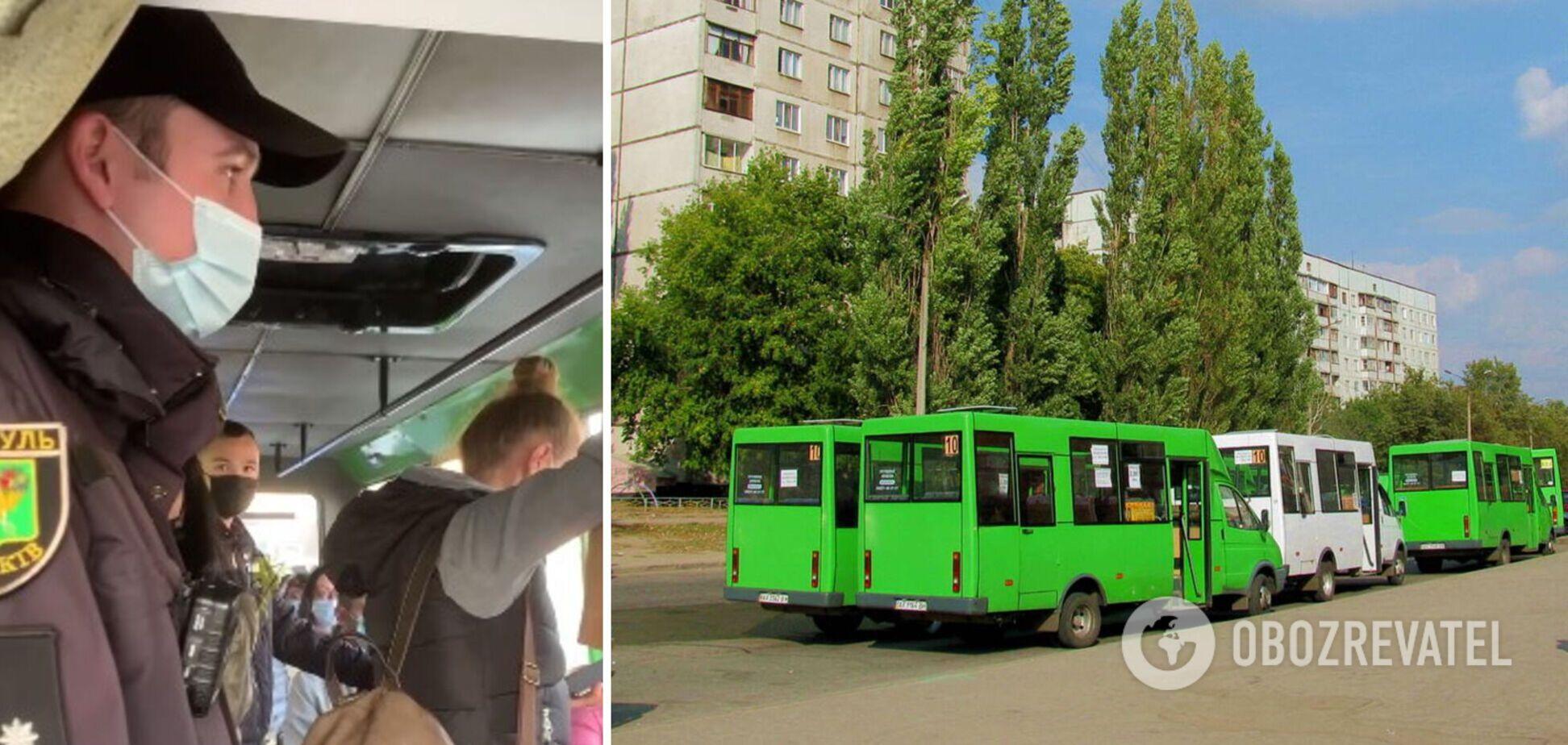 Карантинный скандал в автобусе Харькова: водитель 'взял в плен' полицейского