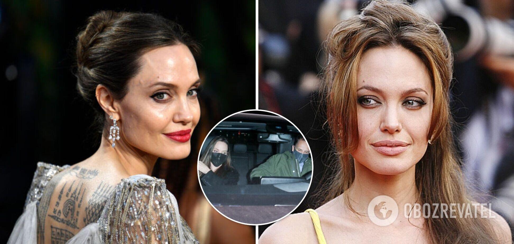 Анджелину Джоли заметили на свидании с бывшим мужем в Беверли-Хиллс. Фото
