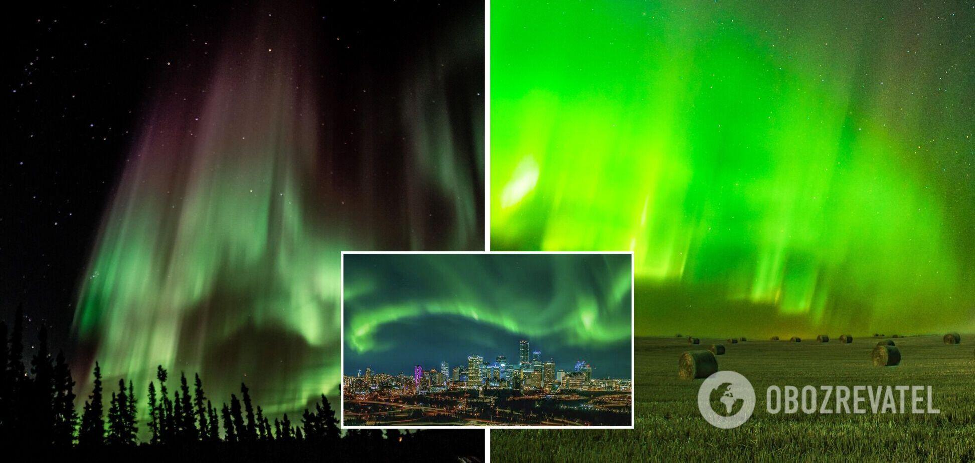 Небо приобрело зеленоватый оттенок: в сети показали яркие фото полярного сияния