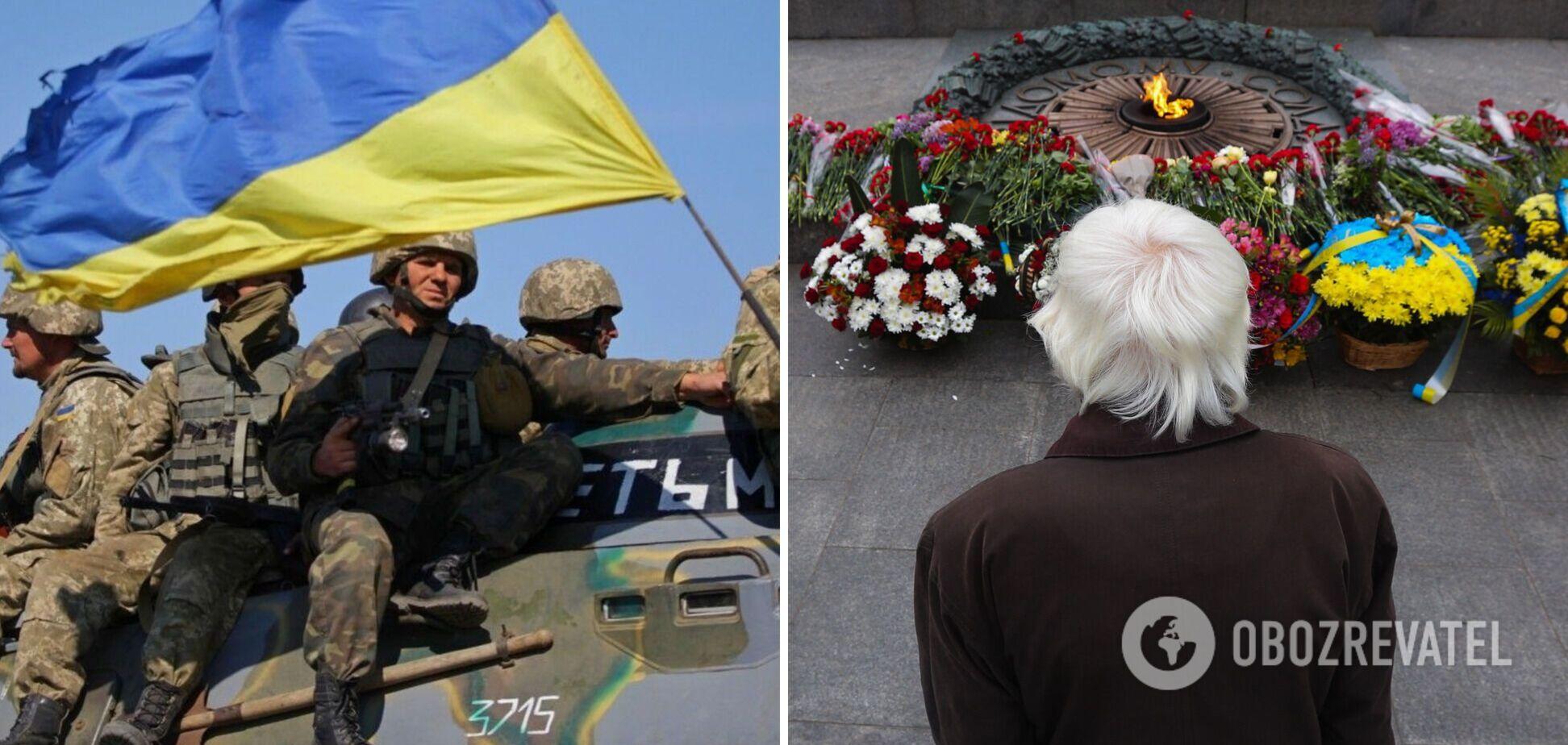 Люди несли цветы и почтили память героев: в Украине отпраздновали День защитников и защитниц. Фото и видео