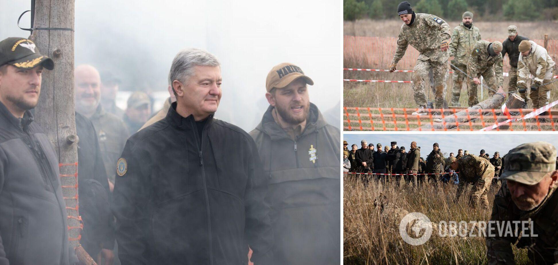 Порошенко взяв участь у тактичних зборах ветеранів і попередив владу про 'червоні лінії'. Фото