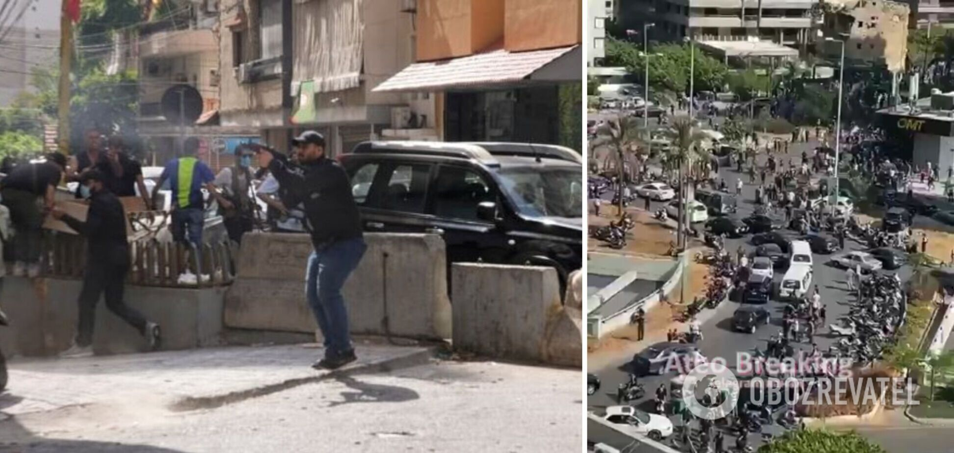 В центре Бейрута вспыхнули масштабные протесты со стрельбой: есть погибшие и раненые. Фото и видео