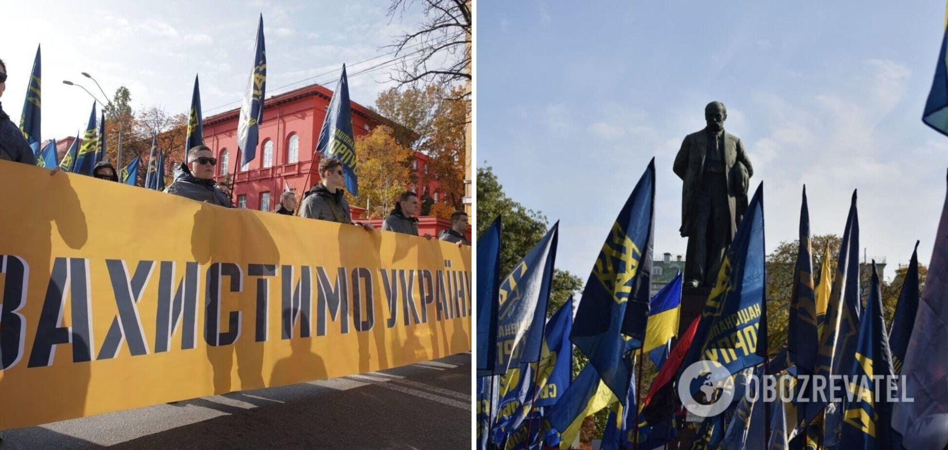 У Києві пройшов марш до Дня захисників і захисниць України. Фото та відео