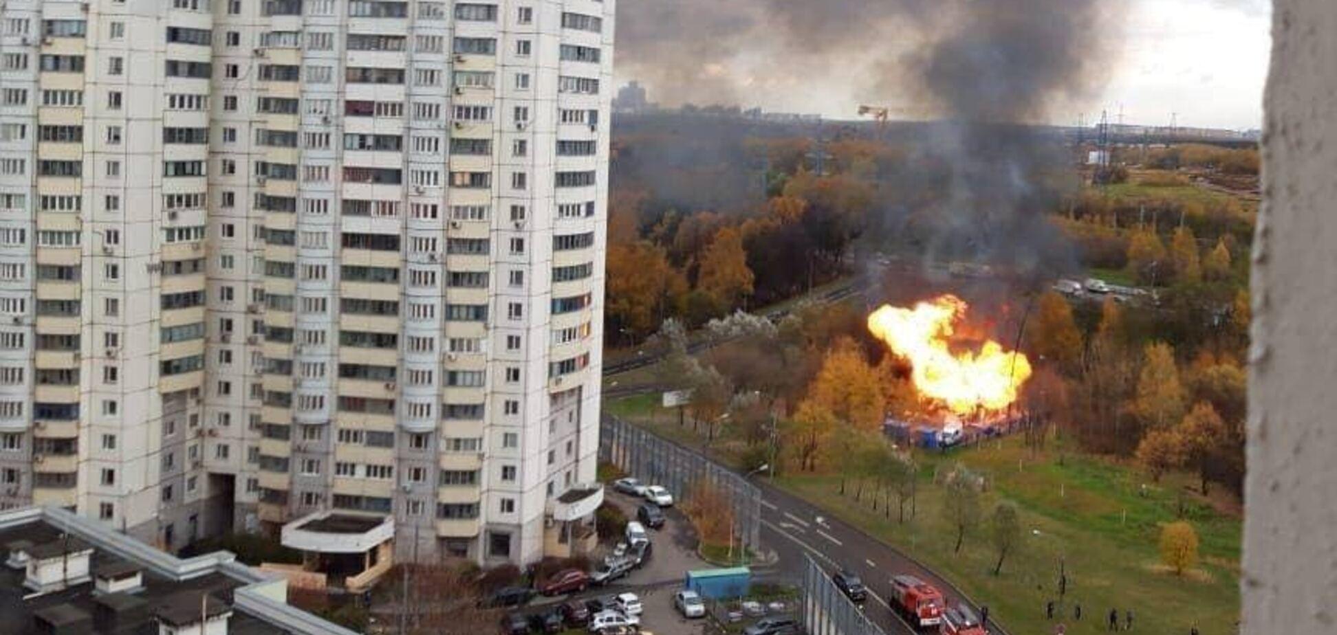 У Росії вибухнула газова підстанція, піднялася стіна вогню. Відео