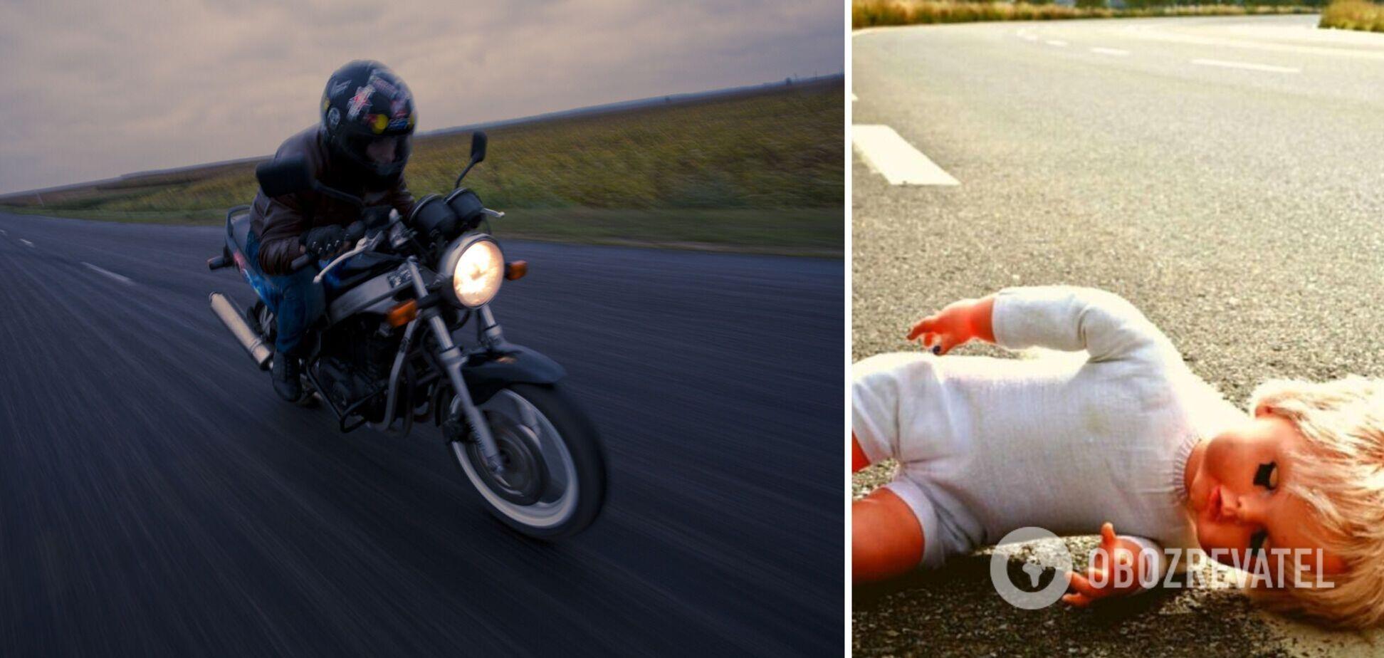 На Прикарпатті 17-річний мотоцикліст збив матір з дитиною на переході: дівчинка померла. Фото і відео