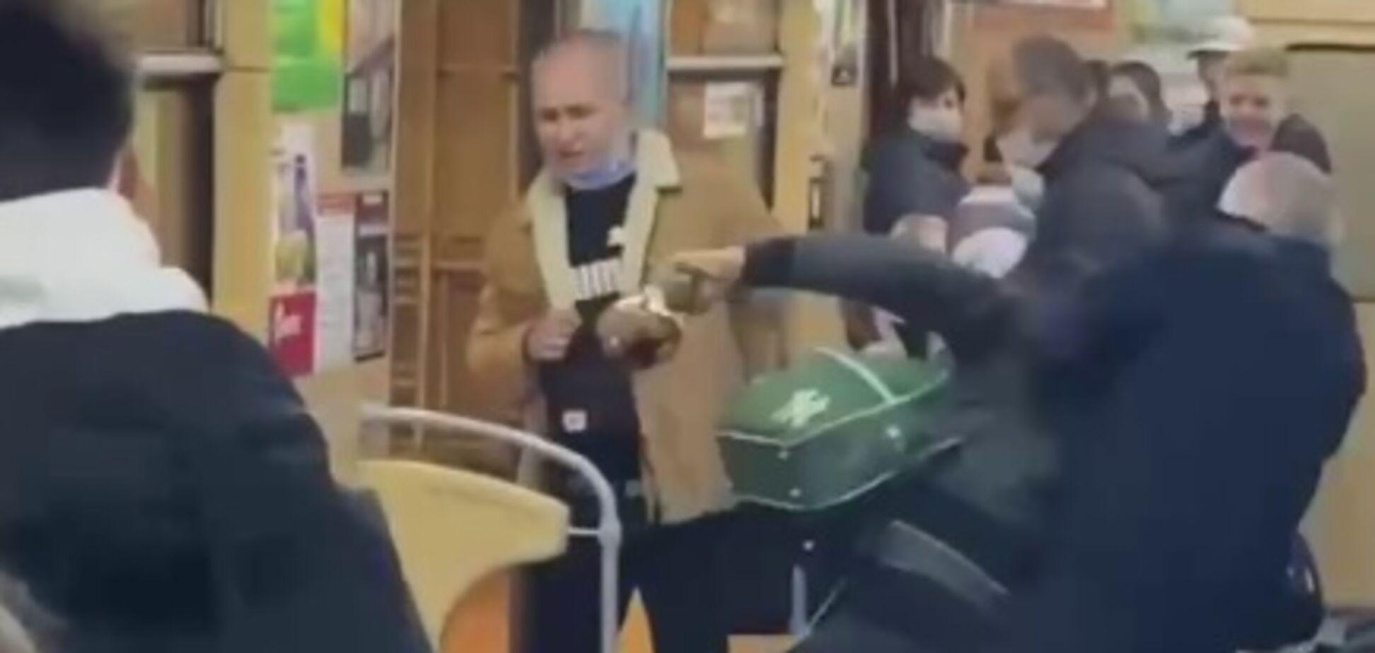 Дебош у харківському метро