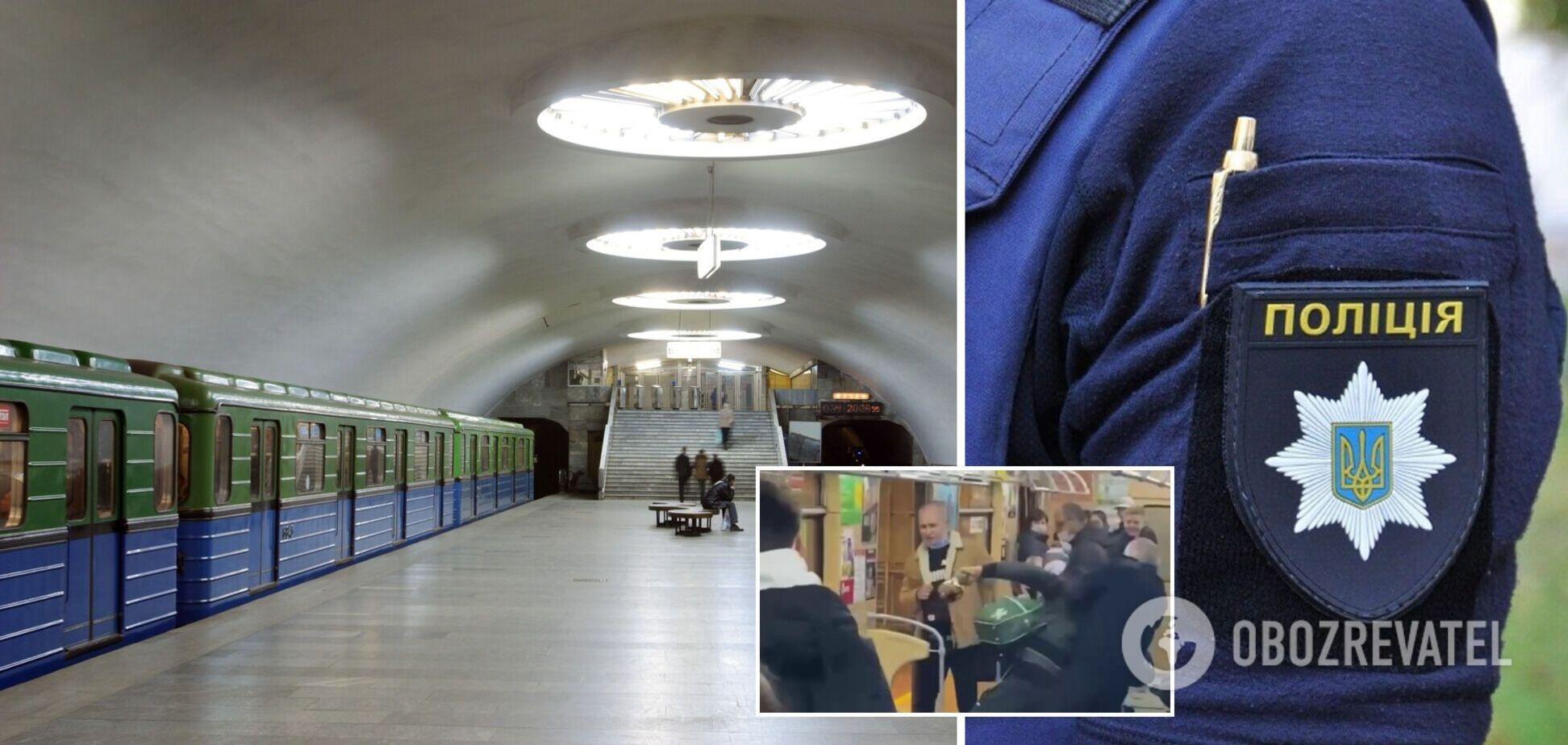 У Харкові чоловік влаштував дебош у метро: його провчив машиніст. Відео