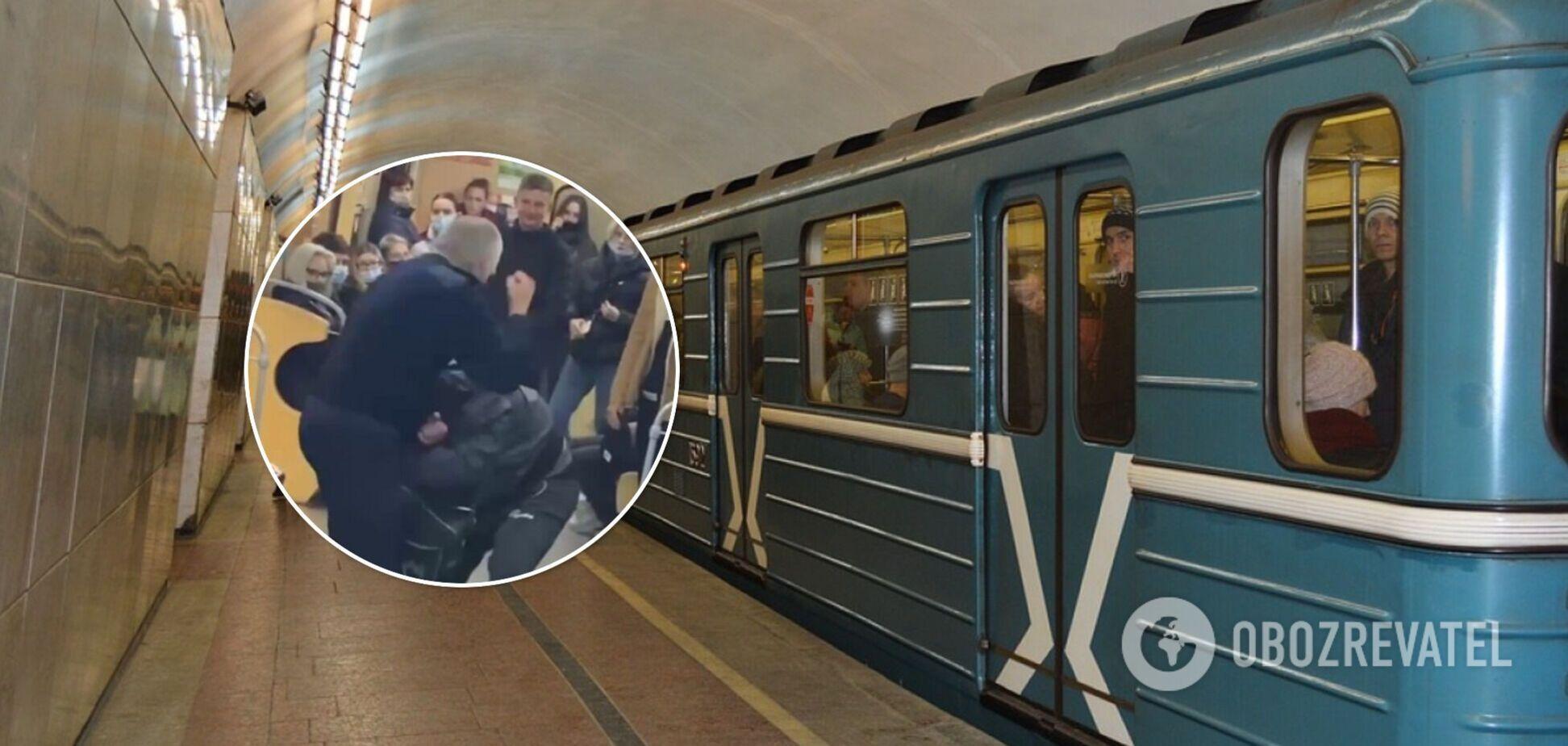 Драка в метро Харькова