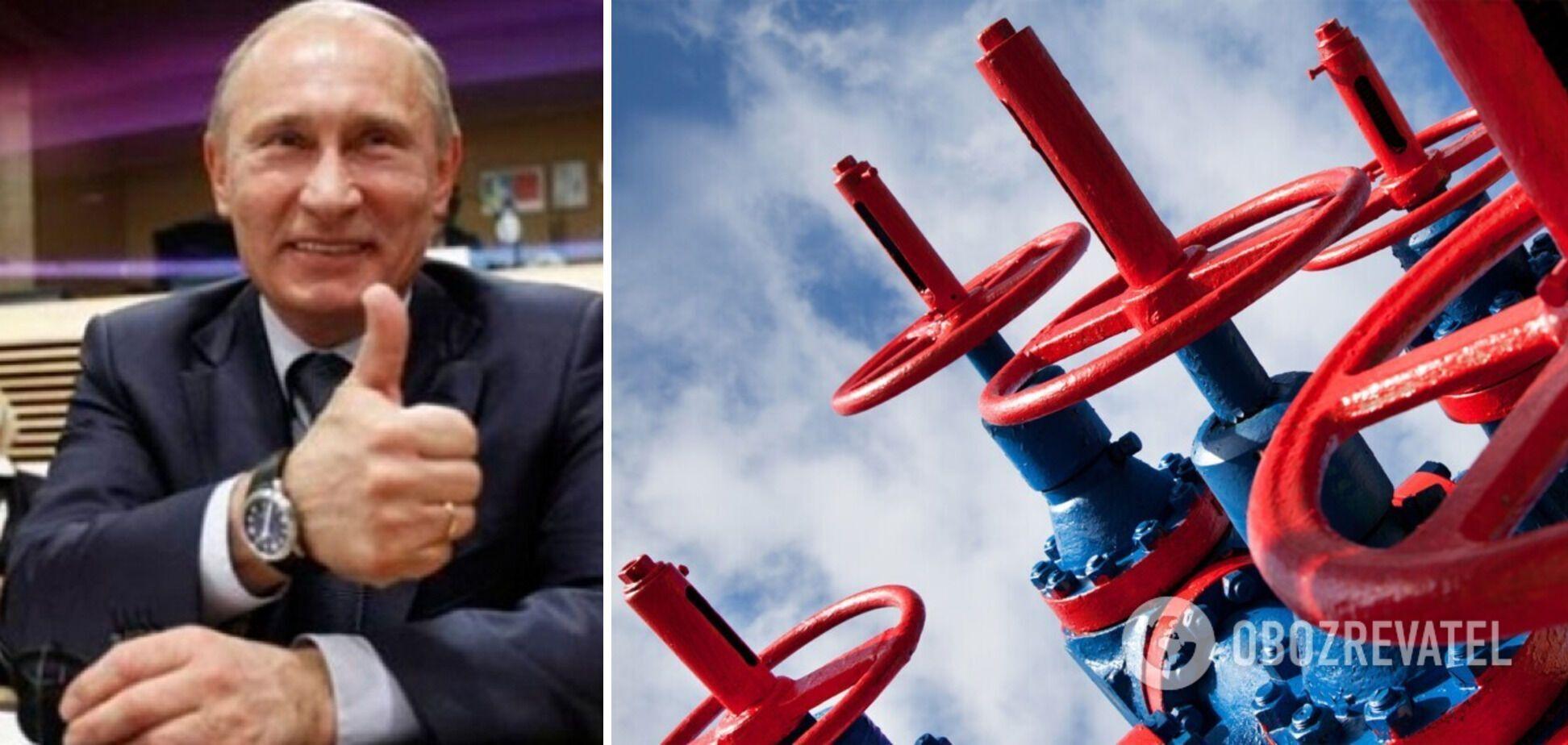 Газовый шантаж Кремля: Путин решил не ждать заморозков