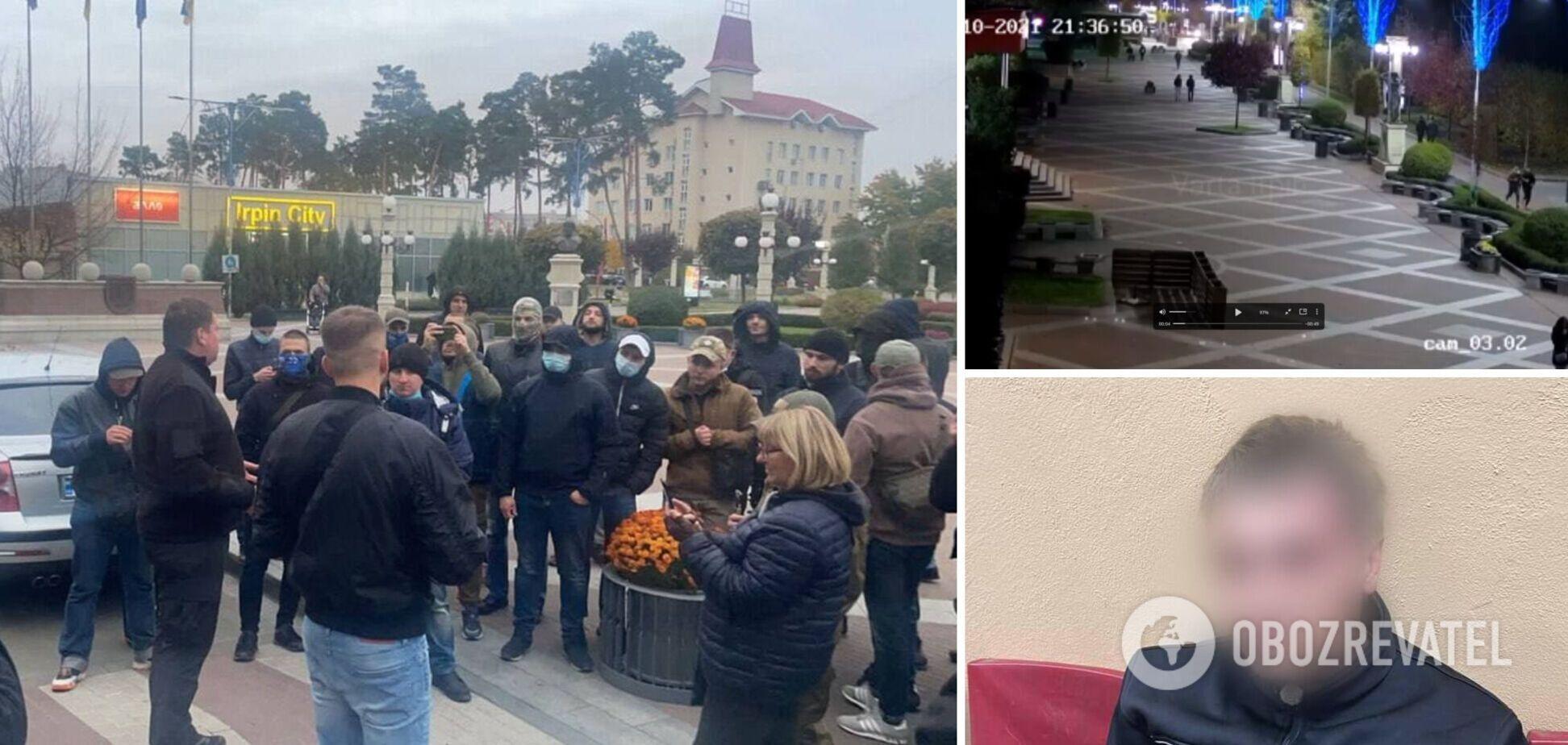 Под Киевом избили ветерана АТО, а нападавших отпустили: люди вышли на митинг. Фото и видео