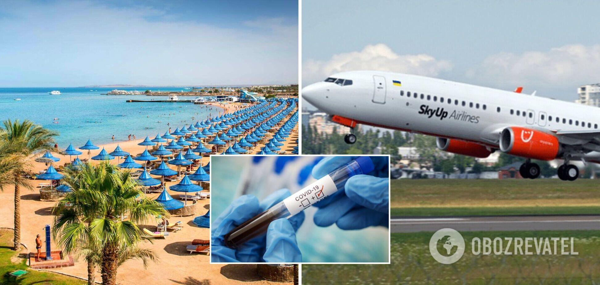 В Египте задержали самолет с украинцами из-за положительного ПЦР-теста