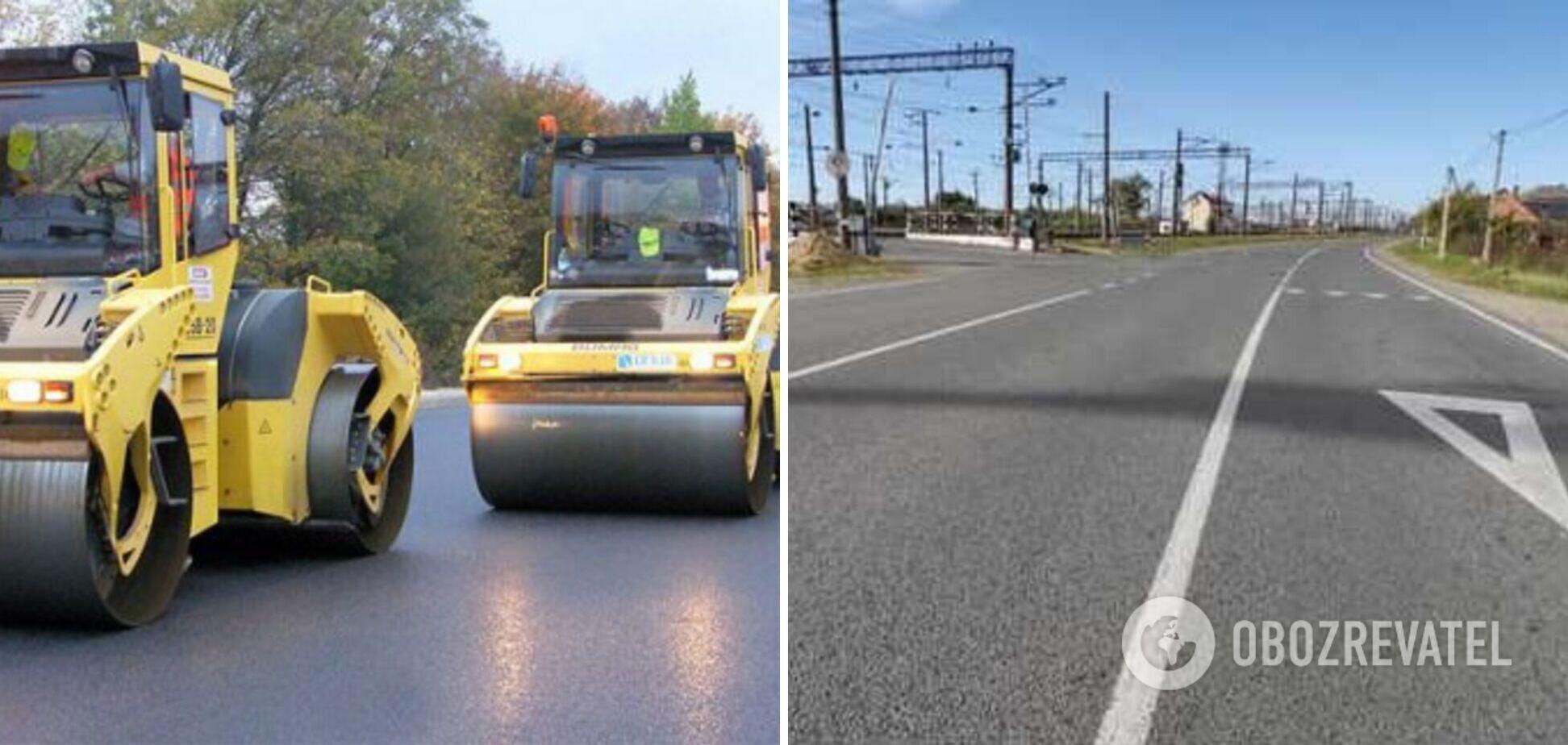 На Закарпатье полностью завершились ремонтные работы на части трассы М-25