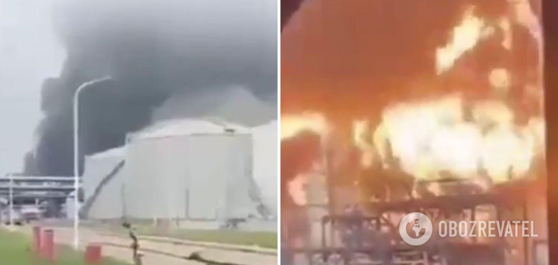 Пожар на заводе в Кувейте