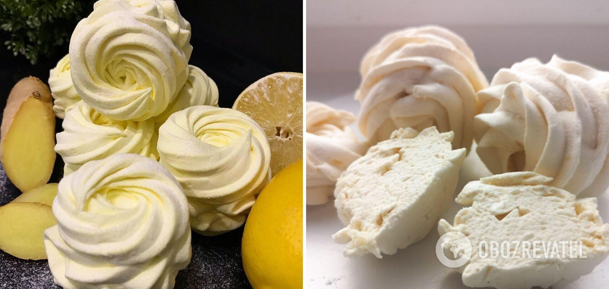 Як приготувати лимонно-імбирний зефір без випічки: відеоурок від кондитера