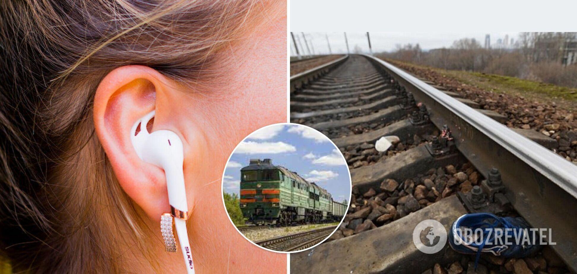 Переходила пути в наушниках: на Харьковщине поезд насмерть сбил девушку, момент трагедии попал на видео