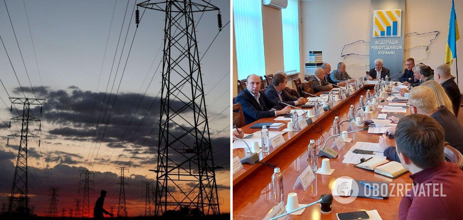 Федерація роботодавців України підтримала ідею Тимошенко про введення НС в енергетиці