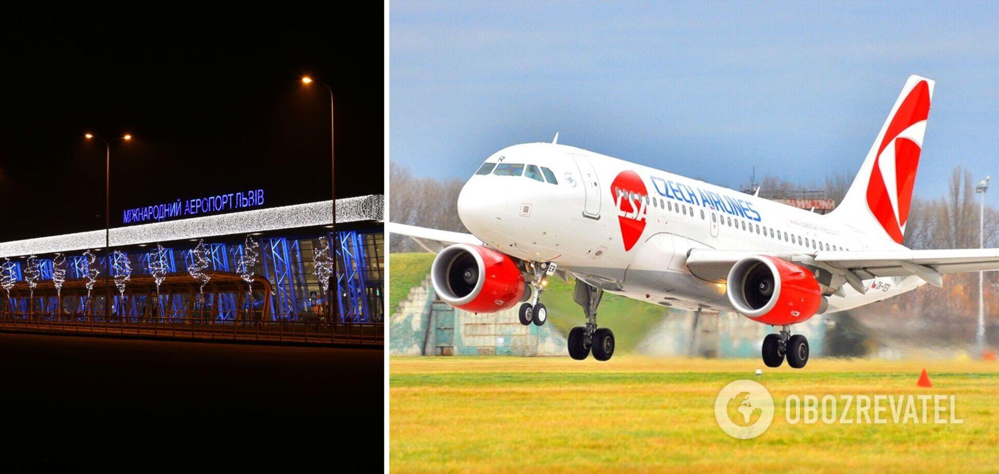 Во Львове экстренно посадили самолет из Чехии: названа причина