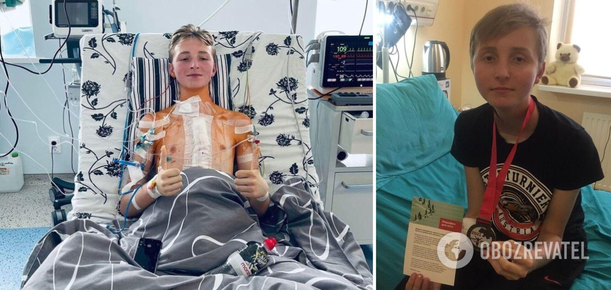 Підліток, якому вперше в Україні пересадили серце, про операцію: це шанс на нове життя. Фото