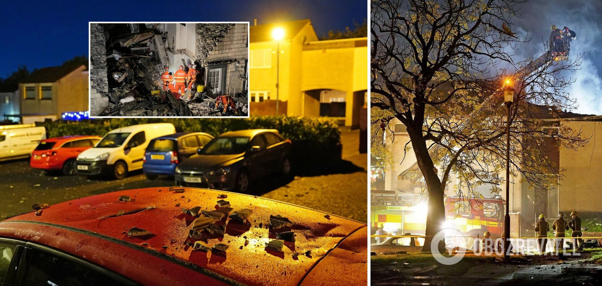 У Шотландії потужний вибух зруйнував будинок, серед постраждалих – діти. Фото і відео