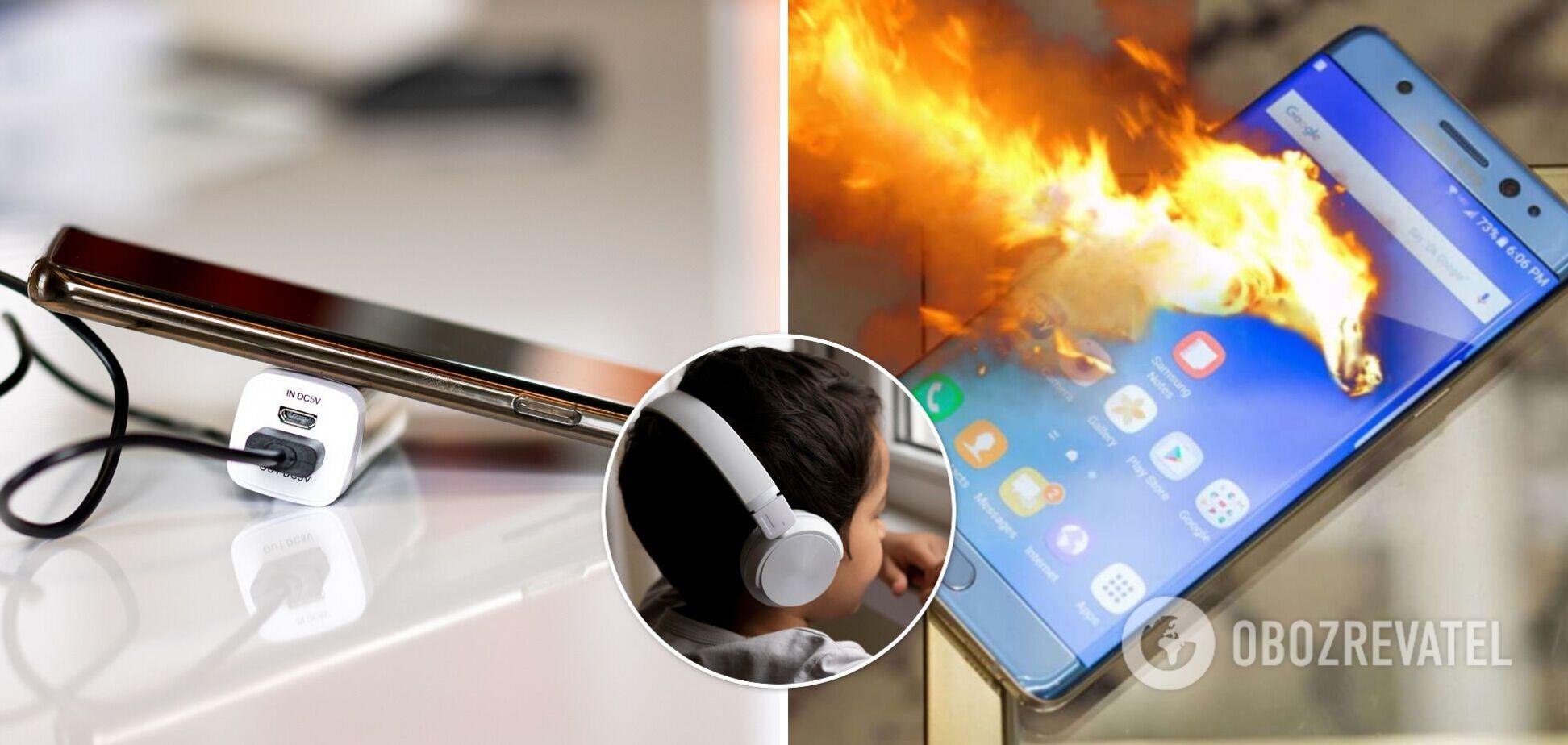 У мальчика был онлайн-урок, когда взорвался смартфон. Иллюстрация