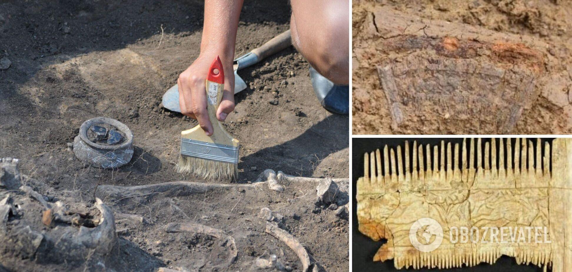 Археологи виявили в Німеччині поховання багатого воїна, який помер 1500 років тому. Фото