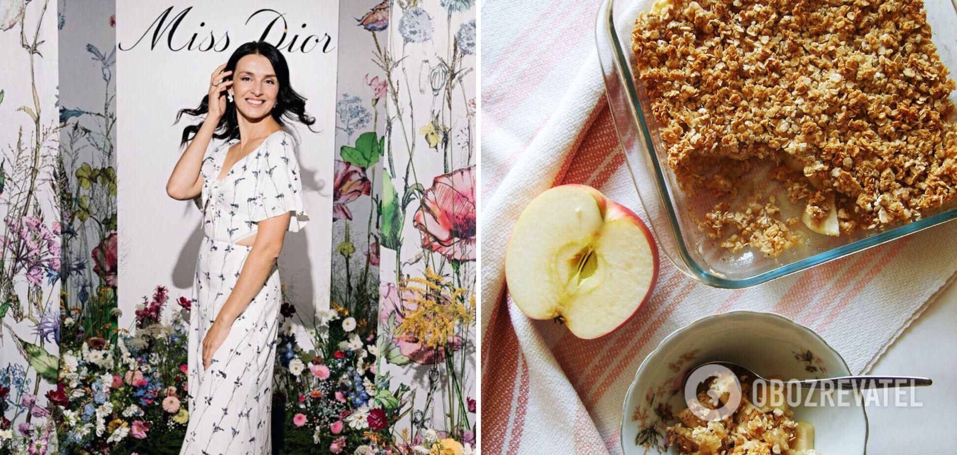 Валентина Хамайко поділилася рецептом смачного яблучного крамблу