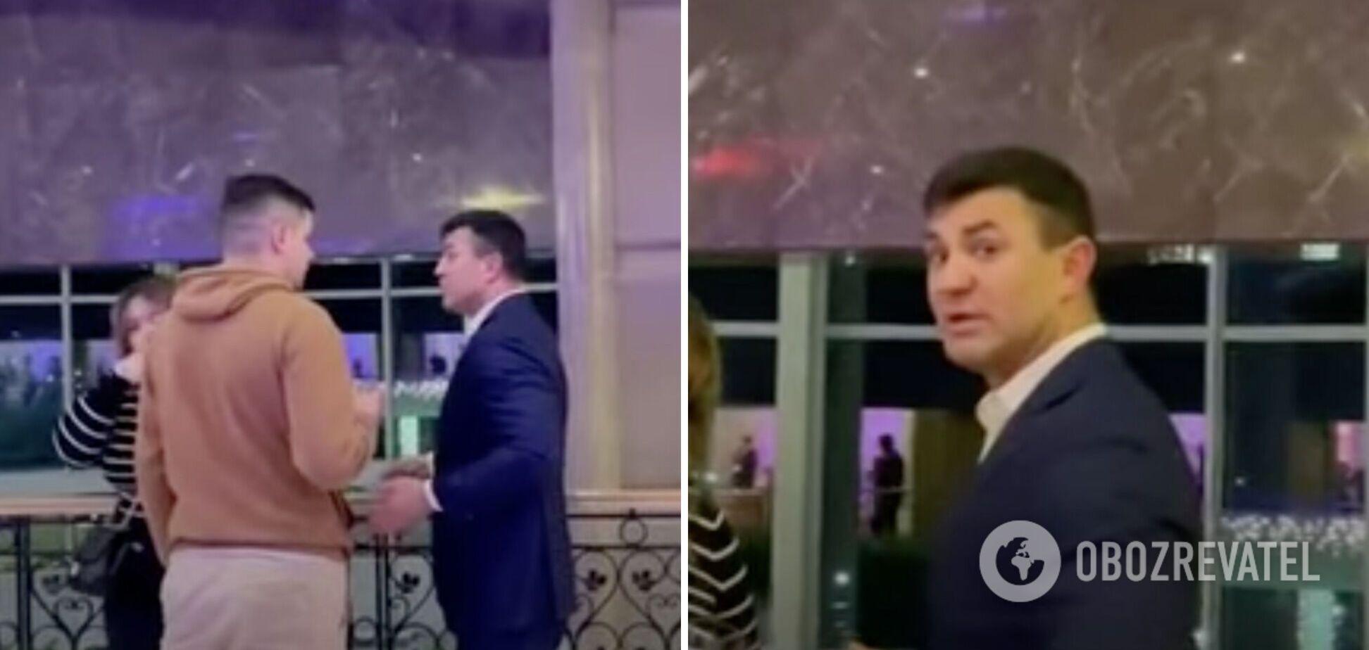 'Ты за**ал уже': Тищенко в Трускавце обругал своего однопартийца. Видео