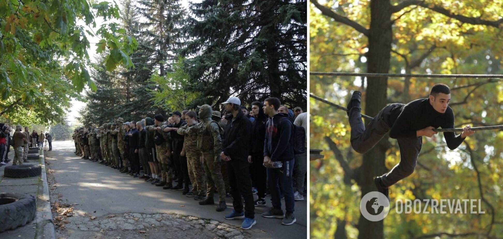 Білецький у Києві провів вишкіл з територіальної оборони. Фото
