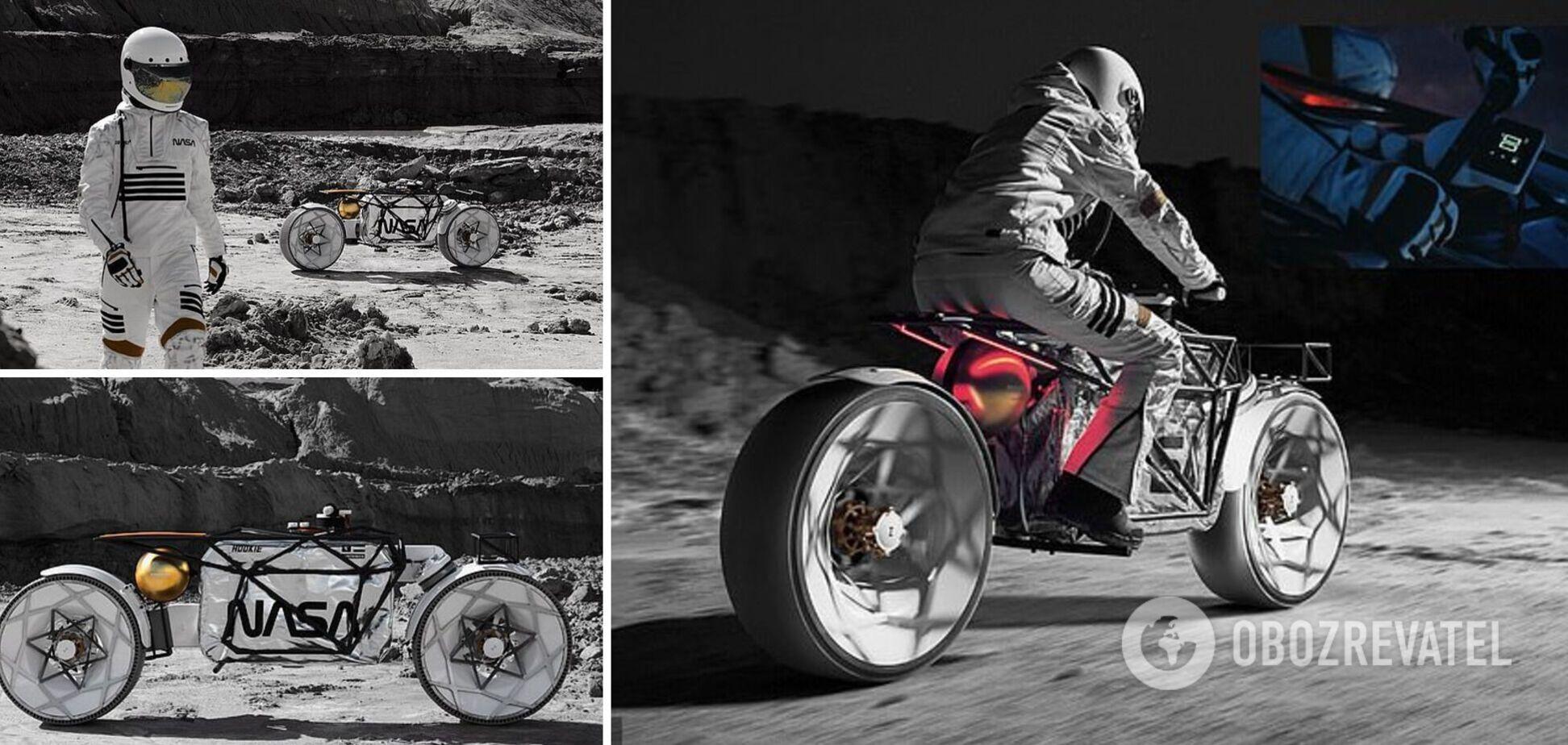 У Німеччині презентували мотоцикл, який може бути використаний для дослідження Місяця. Фото