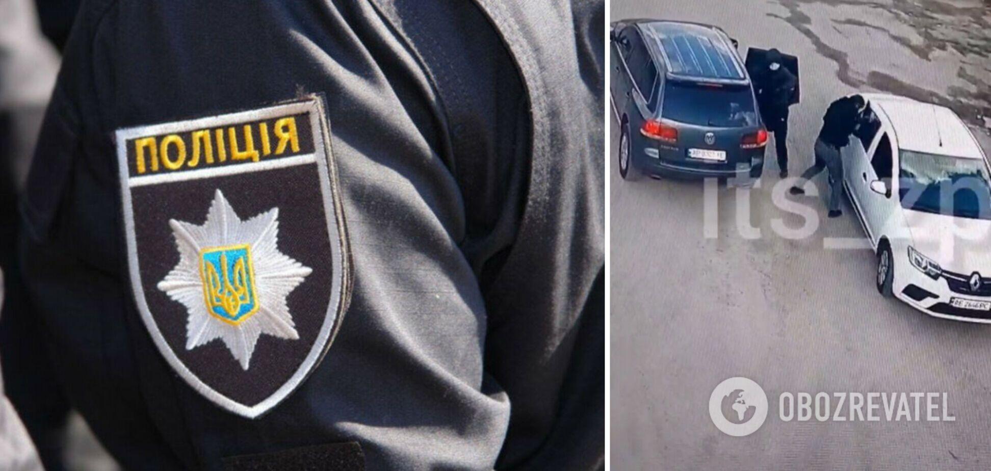 У Запоріжжі грабіжники серед білого дня викрали з авто 2 мільйони гривень: момент потрапив на відео