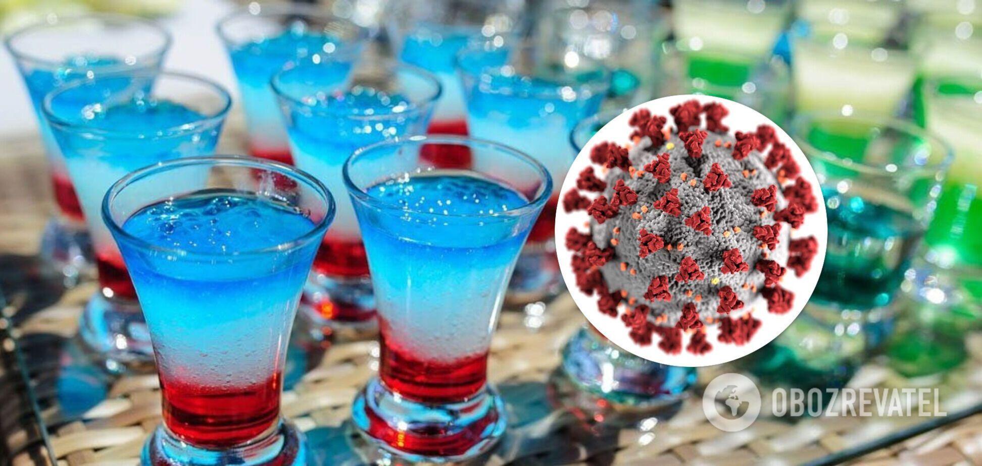 Шмайзер и Корона Фак: в Одессе посетителям бара предлагают 'ковидные' коктейли. Фото