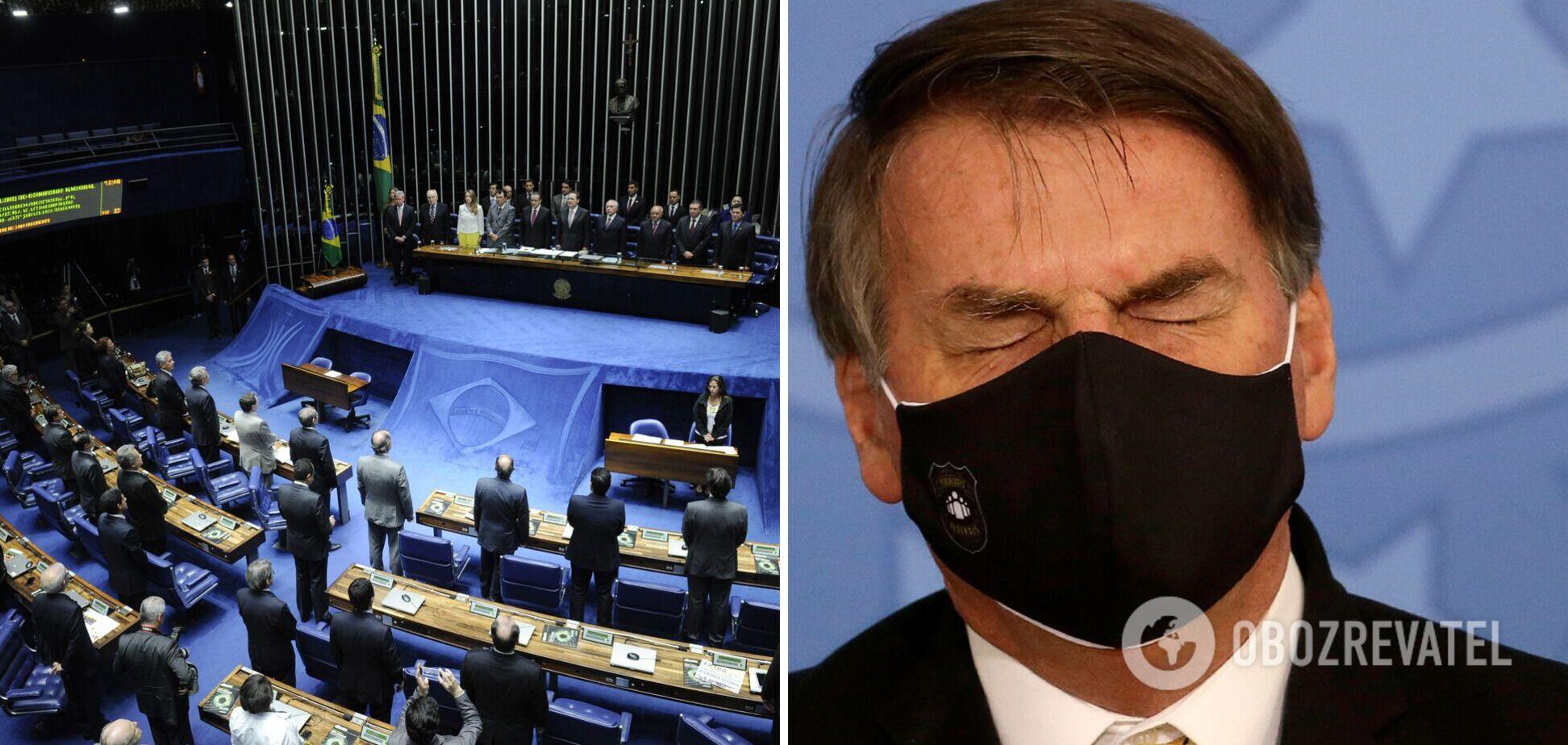 Бразильський сенат визнав президента Болсонару винним у злочинах проти людяності