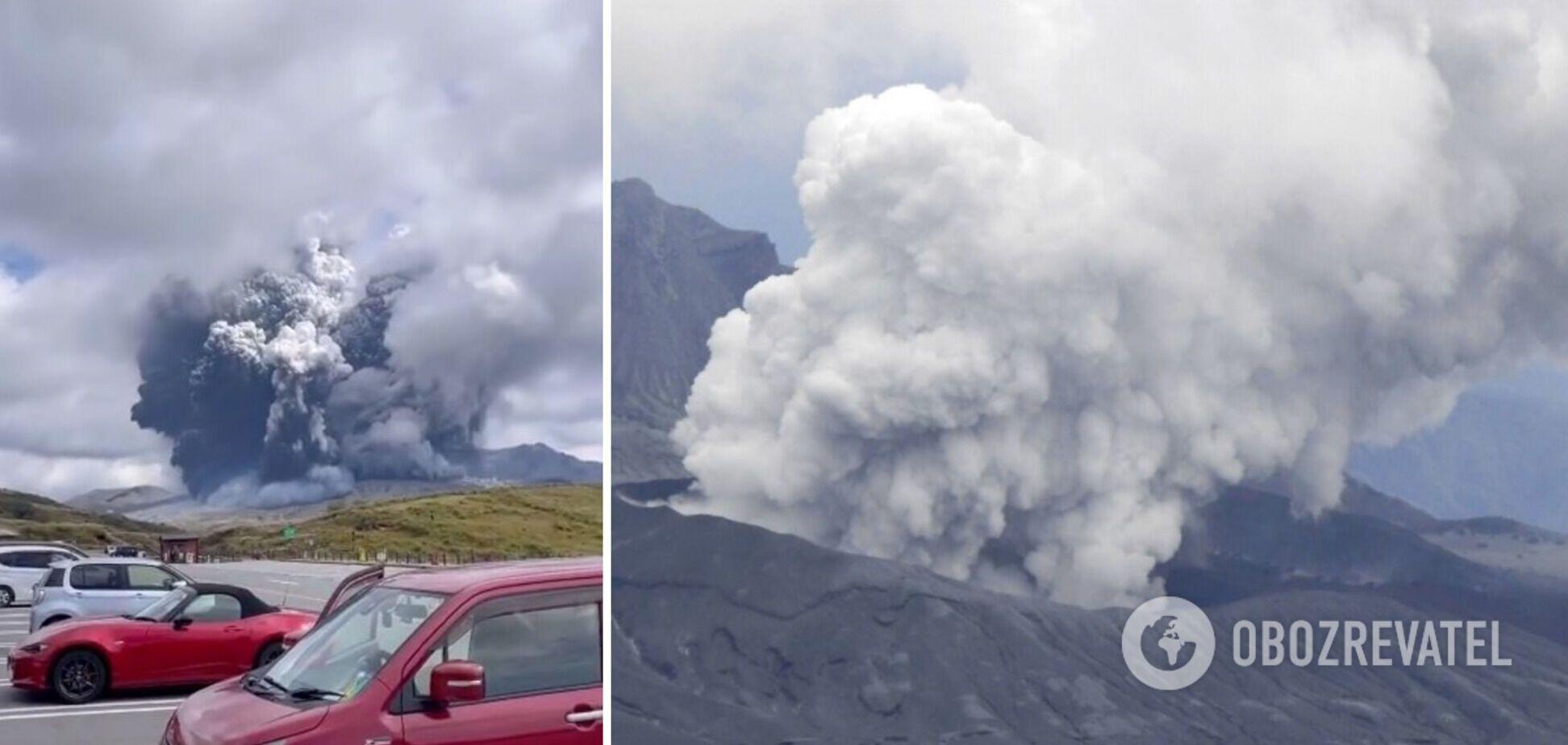 У Японії почалося виверження вулкана Асо