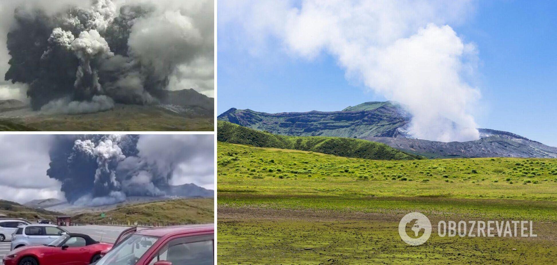 У Японії почалося виверження вулкана Асо: викинув стовп попелу заввишки понад три кілометри. Відео