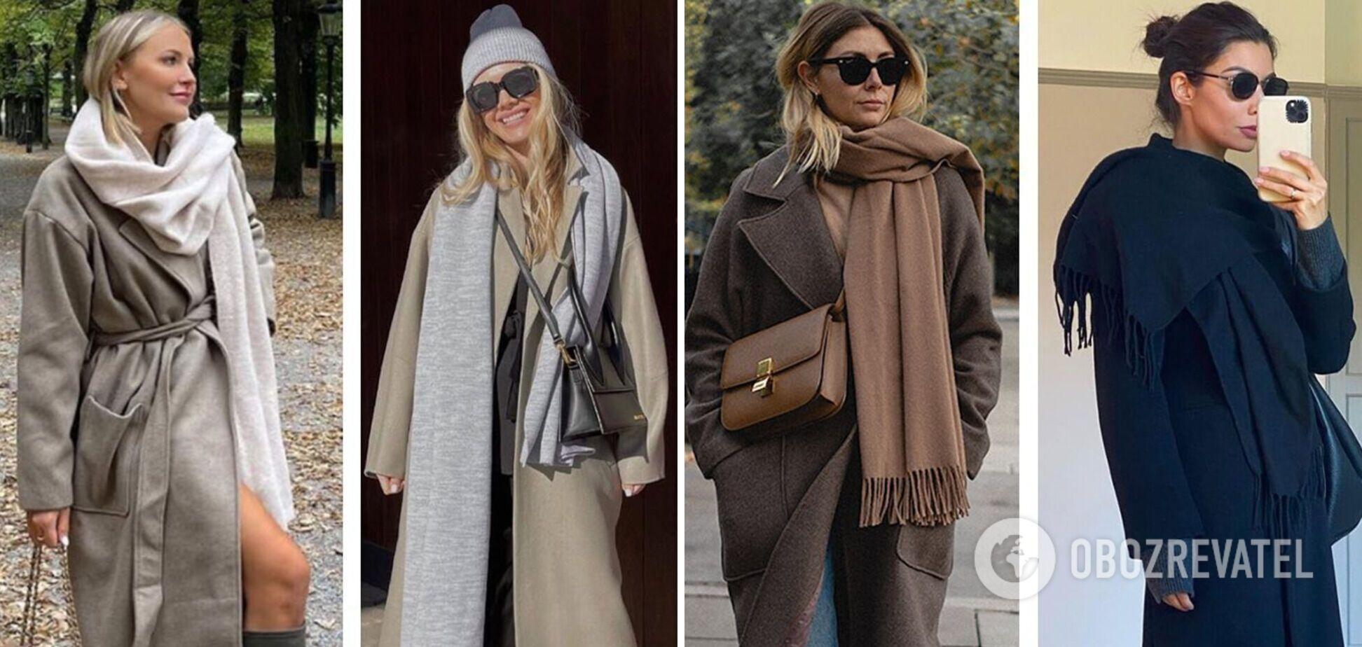 Стилістка показала, як стильно носити шарф: готові образи на пізню осінь. Фото