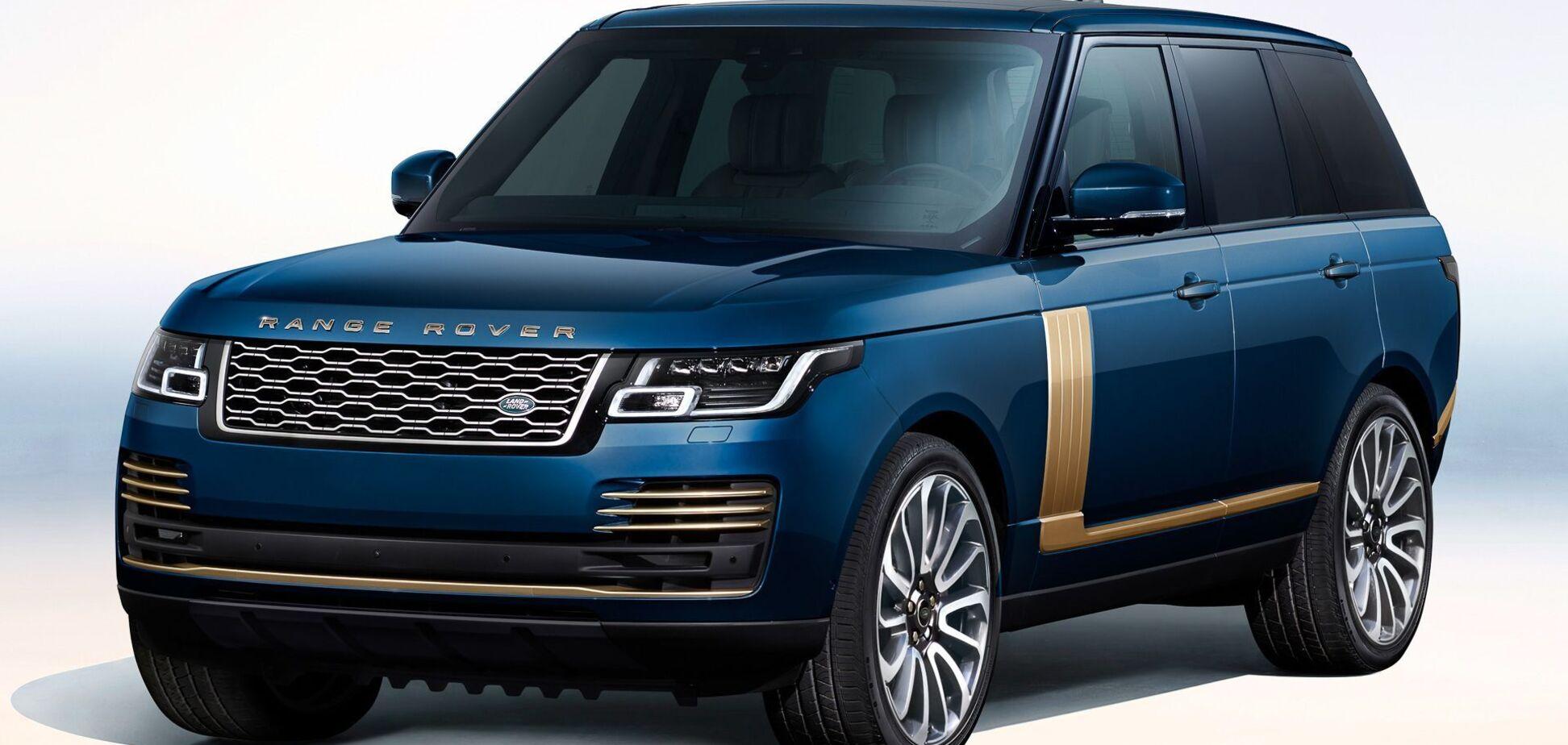 Золото на блакитному: Range Rover показав спецверсію для Японії