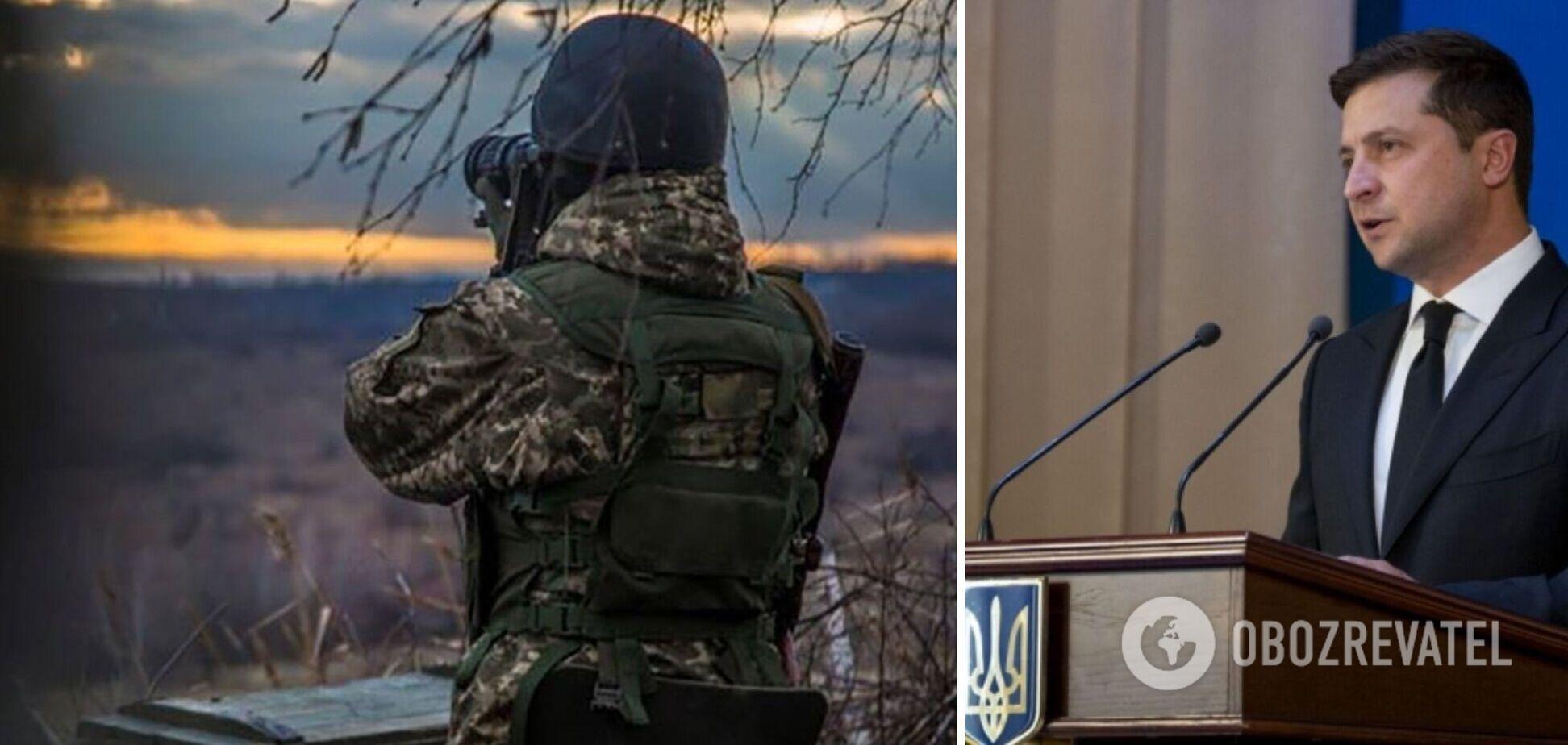 Ситуация на Донбассе сложная: Зеленский призвал военных быть готовыми к любому развитию событий