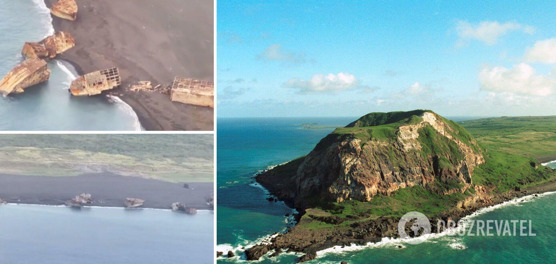 В Японії після землетрусу спливли кораблі, що потонули при битві за Іводзіму 76 років тому. Відео