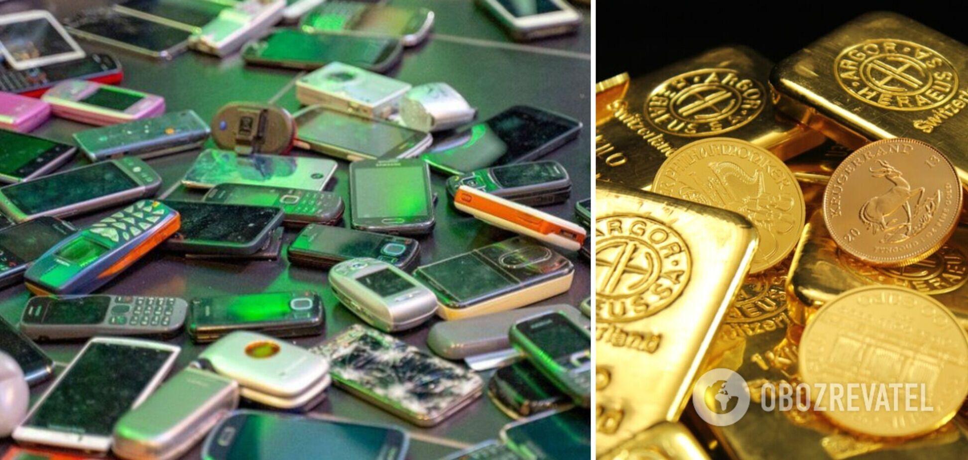 В Британии старые телефоны решили превращать в золотые слитки: что известно о технологии