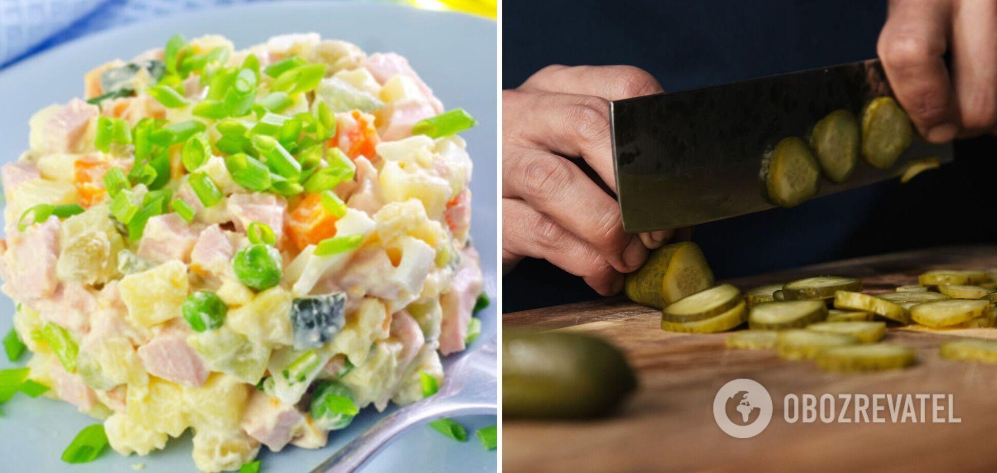 С какими огурцами лучше приготовить ''Оливье'' – свежими или солеными: опыт фудблогеров