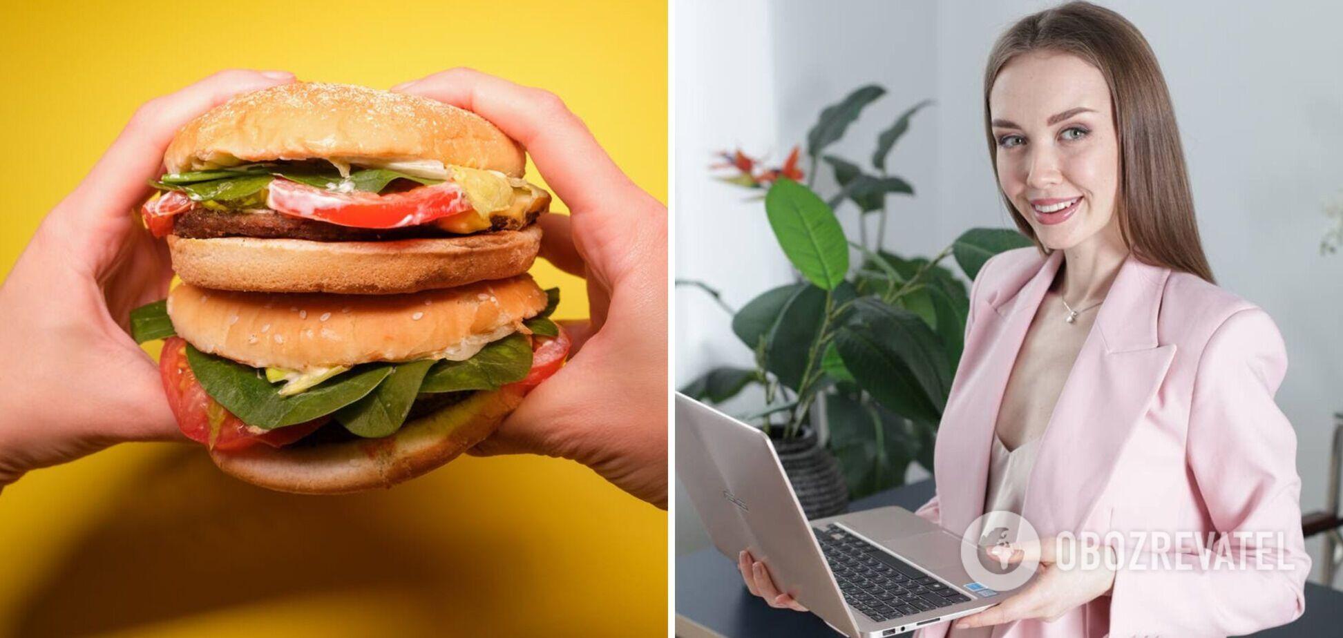 Шаурма, гамбургер чи картопля фрі – який фастфуд здоровіший: розповідає експертка. Ексклюзив