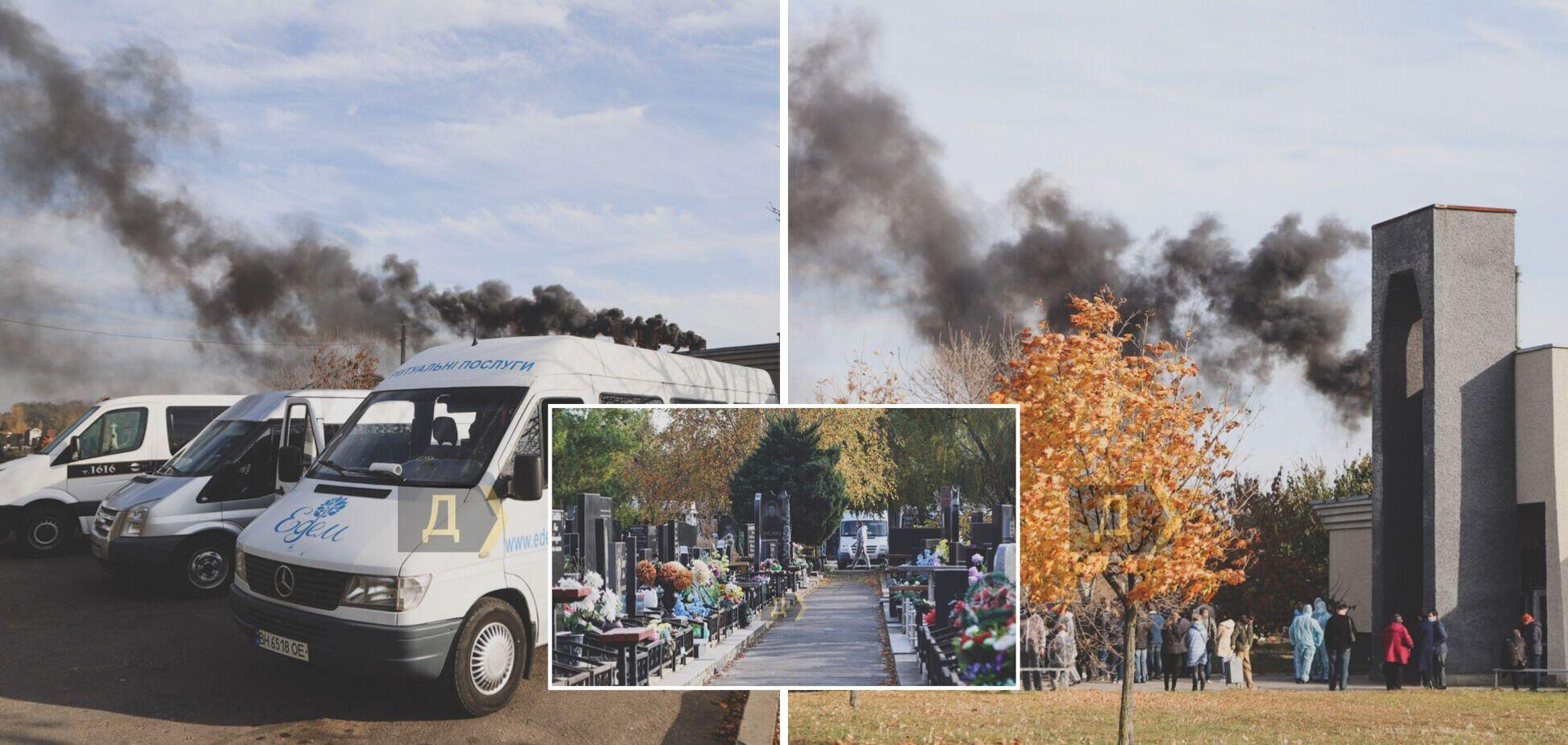 У крематорії Одеси щодня спалюють до 40 тіл, майже всі померлі – з COVID-19. Фото та відео