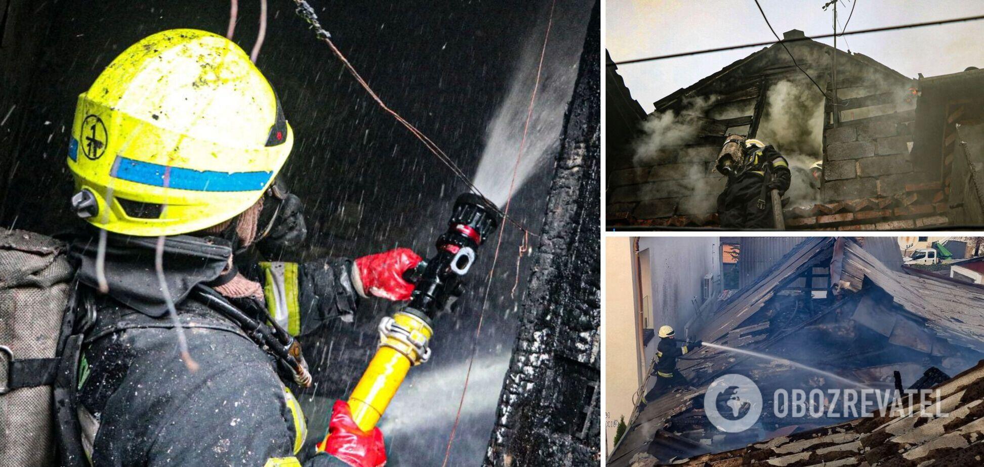 Вогнем пошкоджено майно в п'ятьох квартирах та дах