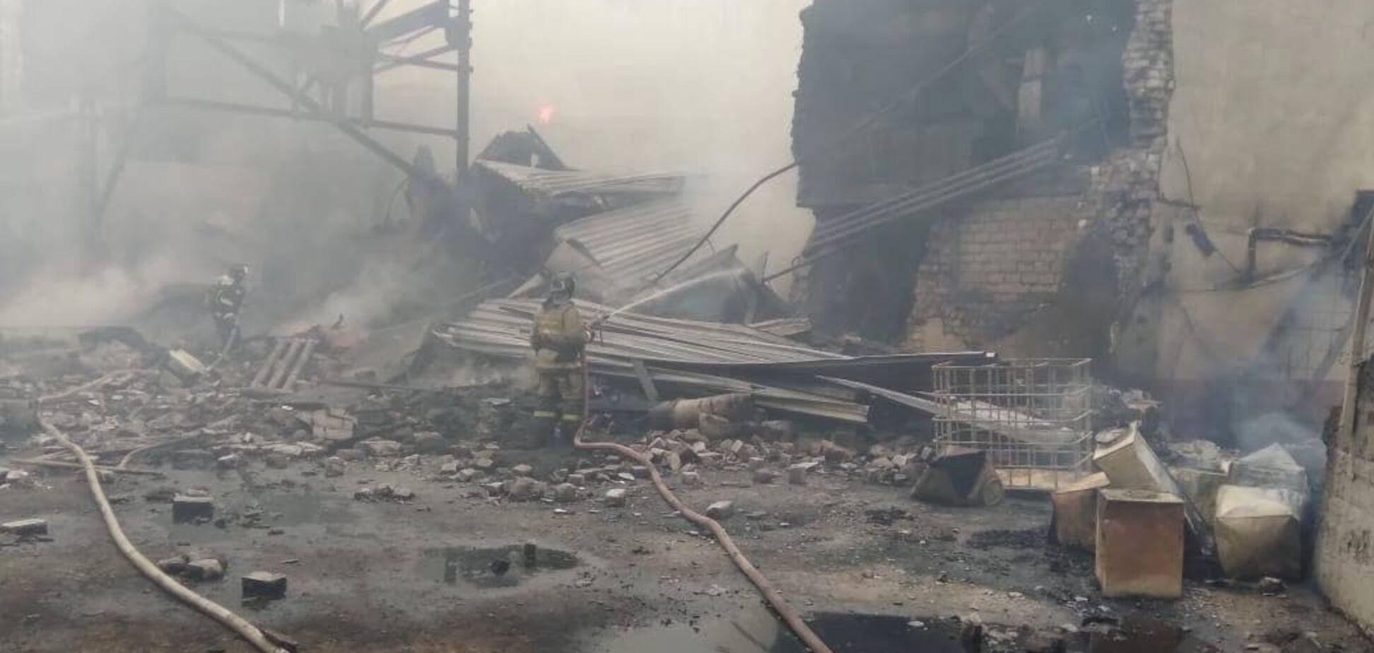 Момент вибуху на заводі в Росії