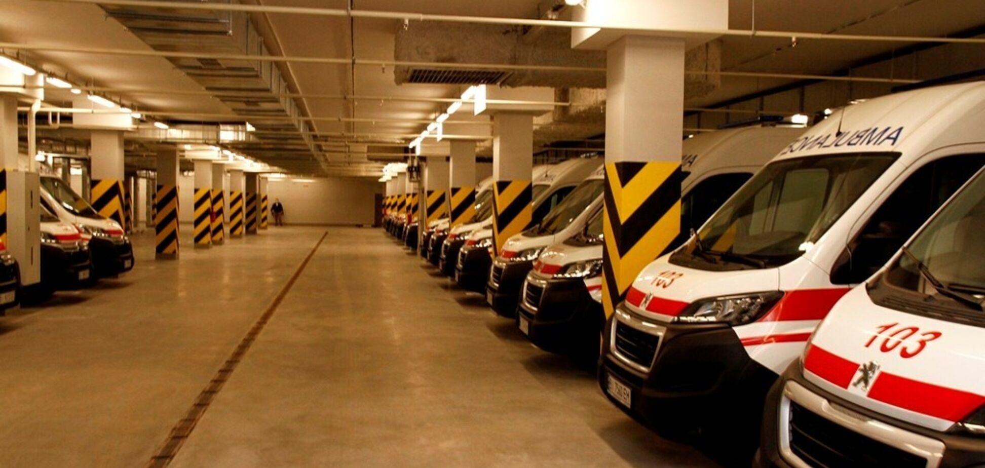 В Полтаве открылся новый подземный паркинг для 50 автомобилей скорой